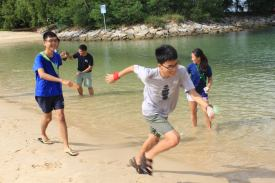Sentosa Wet Games - run!