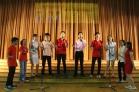 School choir singing Chinese New Year songs