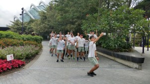 A morning jumpshot at the scenic Gardens By The Bay to jumpstart the many activities on the first day.