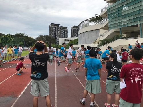 Skipping rope in unison