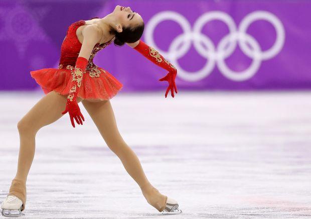 Russian skater Alina Zagitova at the 2018 Olympics in PyeongChang, South Korea.