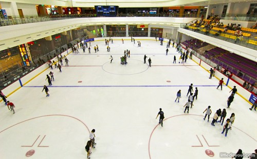 The only Olympic-size ice rink at JCube.